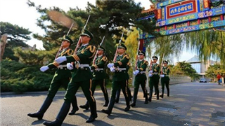 Prestigious soldiers who guard the Diaoyutai State Guesthouse