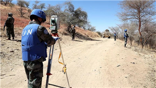 Chinese peacekeepers complete cross-theater road survey in Sudan