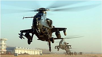 Army aviation brigades hold flight training before Spring Festival
