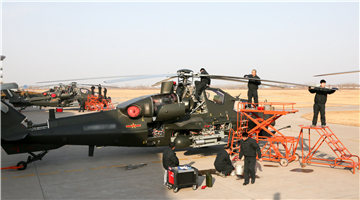Attack helicopters receive phase maintenance