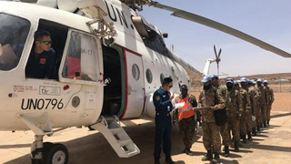 Chinese peacekeeping helicopters complete transport of Pakistani peacekeeping engineers