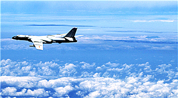 Chinese air force conducts island patrols