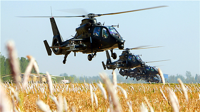 Multi-type helicopters lift off