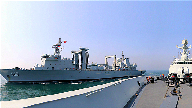 Frigate Rizhao fires rocket-propelled depth charges in Yellow Sea