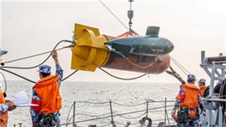 PLA conducts anti-underwater mine warfare drill to protect
