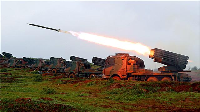 Rocket launcher systems launch 122mm rockets