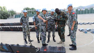 17th Chinese peacekeeping force to Lebanon passes UN equipment inspection