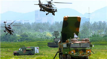 Army aviation brigade conducts joint training with air defense brigade