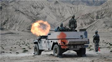 Live-fire test near Kunlun Mountains