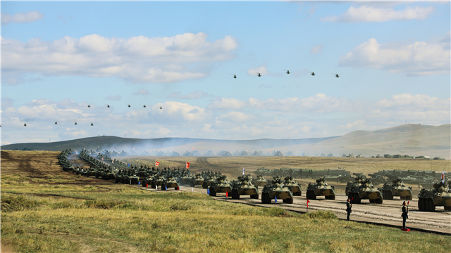 Military Parade held in Russian