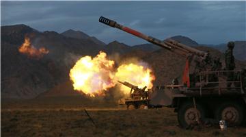 Live-fire training in Qinghai-Xizang Plateau