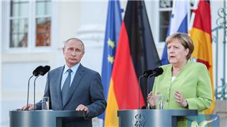 Putin, Merkel discuss peace deal on Syria's Idlib