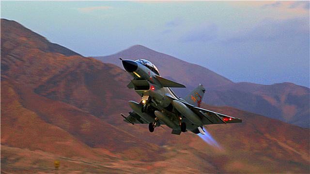 J-10 fighter jet fires at ground targets