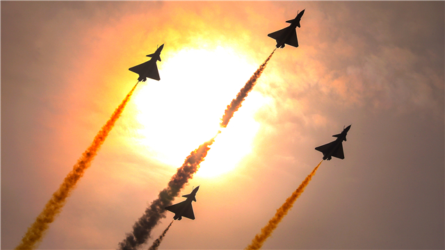 August 1st Aerobatics Team performs aerobatic stunts