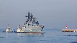 Russian naval fleet visits Qingdao