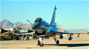 J-10 fighter jets attack mock targets