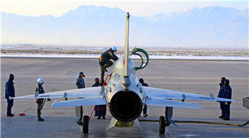New pilots receive airplanes from maintenance men