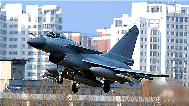 J-10 fighter jets take off
