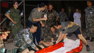 Chinese peacekeepers participate in UNIFIL medical drill in Lebanon