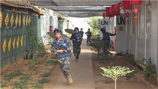 Chinese peacekeeping force joins in defense drill at MINUSMA Sector East