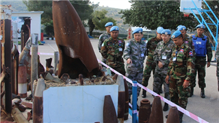 Chinese, Cambodian peacekeeping forces to Lebanon conduct mine sweeping and EOD discussions