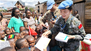 MONUSCO's first female military observer from China, Major Yang Huan Huan