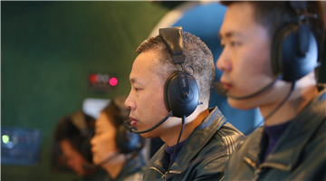 AEW aircraft conducts early warning detection training