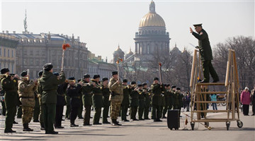 Highlights of Victory Day parade rehearsal in St. Petersburg, Russia