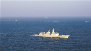 Navy fleet escorts four Chinese civilian ships