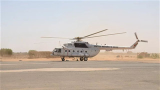 China's 2nd peacekeeping helicopter unit in Sudan's Darfur finish equipment inspection