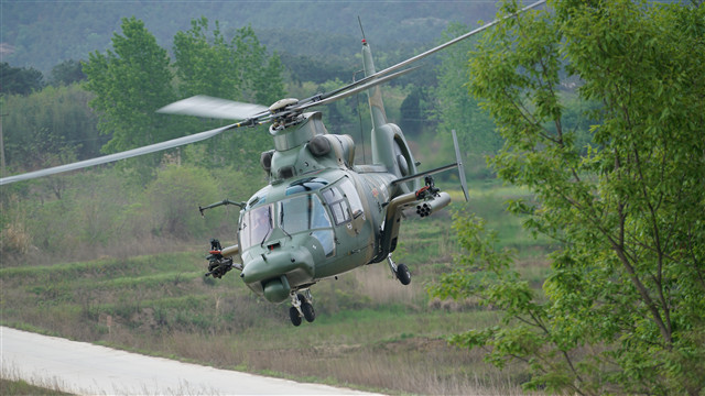 Multi-type attack helicoptersconductassault operations