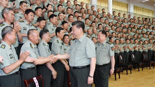 Xi inspects PLA Army Infantry Academy