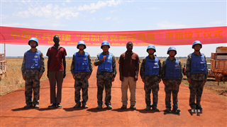 Chinese peacekeeping engineers kick off supply route construction for South Sudan