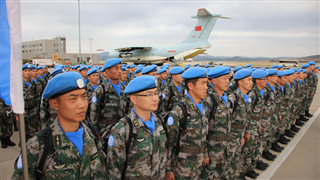 The 18th Chinese peacekeeping force to Lebanon set out