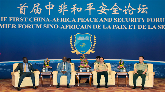 Chinese defense chief meets with African guests