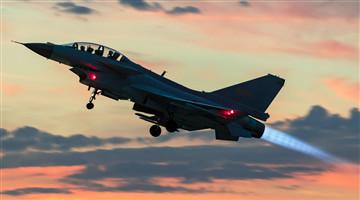 J-10 fighter jets soar in combat formation