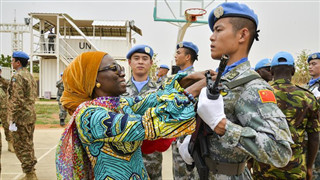 Chinese peacekeeping helicopter unit to Sudan's Darfur awarded UN peace medals