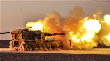 Live-fire test in Gobi desert