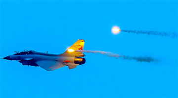 Fighter jet releases jamming shells