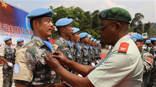 Chinese peacekeepers to DR Congo awarded UN Peace Medal of Honor