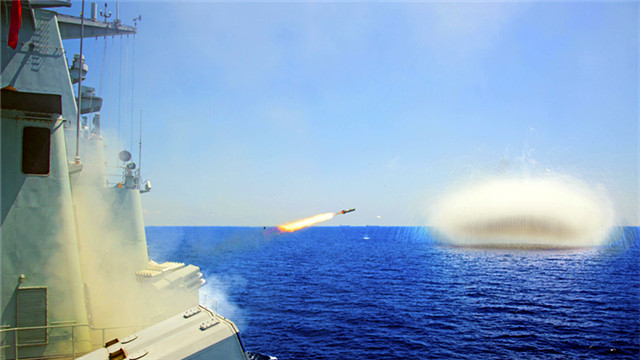 Destroyer flotilla launches smoke screen to mask movement