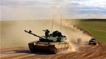 Armored vehicles train in ancient battleground