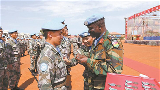 Chinese infantry peacekeepers to S. Sudan awarded collective commendation
