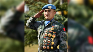 Chinese peacekeeper: for peace, I'm ready to fight