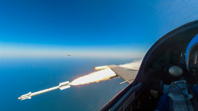 Fighter jet soars into the sky