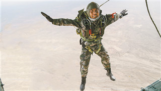 Feature: 2166 parachute jumps of a senior master sergeant