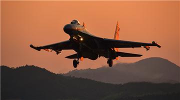 Fighter jets soar in the sky