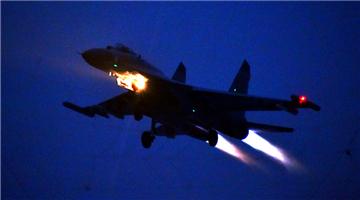Fighter jets' night flight mission