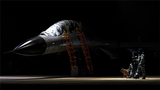 Airmen execute night patrol mission in airfield