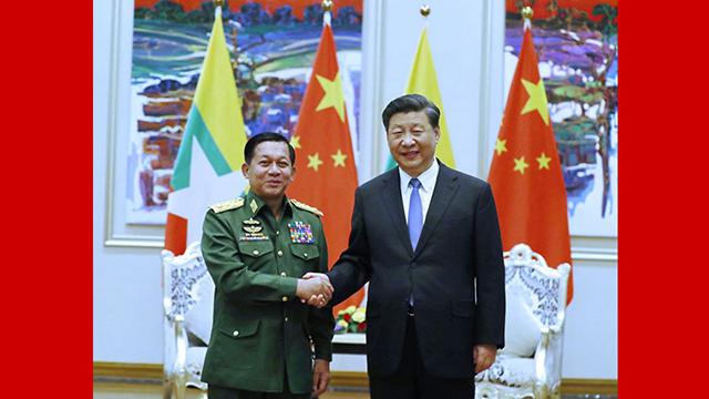 Xi meets with Myanmar commander-in-chief of defense services